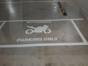 motorbike parking only marking