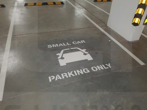small car parking only marking