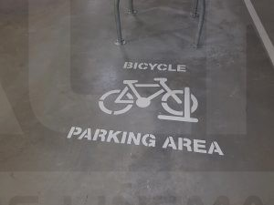 bicycle parking area marking