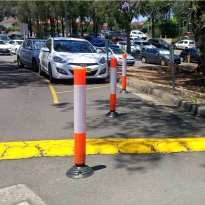 impact recovery bollards by abbas line marking